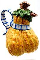 Vintage Fitz and Floyd Vegetable Bowquet Gourd Teapot 36 Oz w Lid 1995