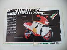 advertising Pubblicità 1987 MOTO CAGIVA FRECCIA 125 C9