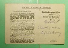 Dr Who 1918 Gb Fpo 33 Ohms Free Frank Postcard Wwi g06856