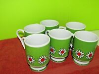 Star Fire Japan Vintage Coffee Cups, Set of 6, GREAT GIFT FOR BABY BOOMERS