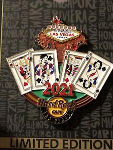NEW Hard Rock Cafe Las Vegas 2021 Black Jack Cards Pin
