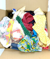 Fabric Scraps / Remnants Mixed Lot Huge Box 11+ Pounds Lbs Arts Crafts Fast Ship