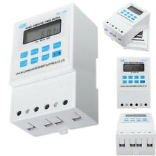DIN Rail Digital LCD Power Programmable Timer Time Switch Relay AC 220V  25A