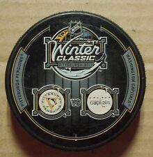 2011 WINTER CLASSIC DUELING PUCK PITTSBURGH PENGUINS WASHINGTON CAPITALS NHL