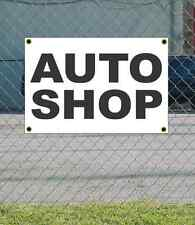 2x3 AUTO SHOP Black & White Banner Sign NEW Discount Size & Price FREE SHIP