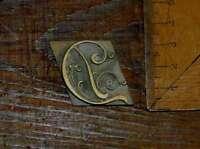 """""""D"""" Messingbuchstabe Initial Buchbinden Prägen bookbinding Buchbinder Initiale ."""
