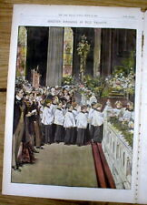 1899 newspaper color magazine w 3 Lrge poster-like engravings Easter in Ny City