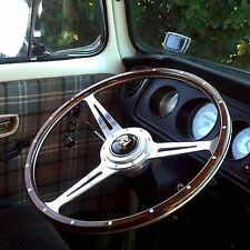 "Wolfsburg Steering Wheel T2 Wood Rim Bay Window VW Early Camper T2 17""  AAC184"