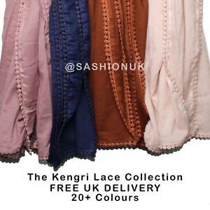 Kengri Lace Hijab High Quality Smooth Scarf Shawl 10+ Colours