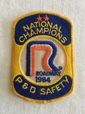 Vintage Roadway Trucking Patch 1984 P & D Safety National Champions Truck