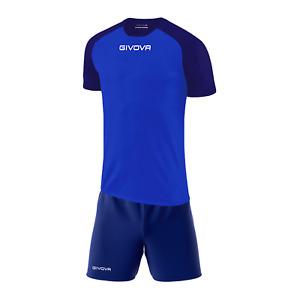 Kit Calcio Givova Capo Completo Maglia e Pantaloncino Calcetto Volley Fitness
