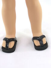"Black Flip Flop Sandals Fits Wellie Wishers 14.5"" American Girl Clothes Shoes"