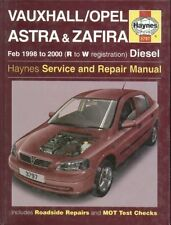 Vauxhall Opel Astra Zafira 1.7 & 2.0 Diesel 1998 - 2000 Service & Repair Manual
