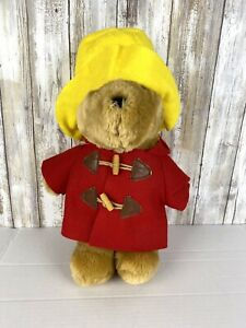 "Vintage Paddington Bear Plush 16"" Doll Stuffed"