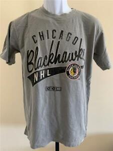 New Chicago Blackhawks Mens Size S Small Gray CCM Shirt