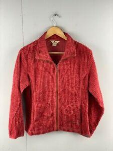 Woolrich Womens Soft Ruby Vintage Full Zip Long Sleeve Fleece Jacket Size Medium