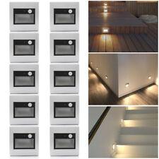 10er Set 0,6W 220V Bewegungsmelder Sensor LED Wandleuchte Stufe Treppenlicht