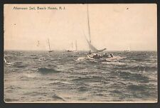NEW JERSEY POSTCARD VINTAGE LBI BEACH HAVEN  AFTERNOON SAIL