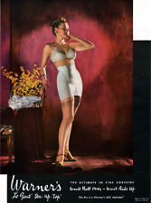 Warner's Corset BRA Stockings LE GANT STA UP TOP Won't Ride Up 1947 Print Ad
