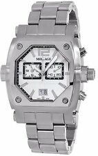 MILLAGE ROGUE COLLECTION ML-135020B26 SWISS QUARTZ WHITE FACE CHRONOG DATE WATCH