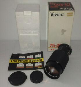 VIVITAR MC 75 - 205mm F 3.8 Zoom Lens For Pentax K Mount 1 : 4x Macro Focusing