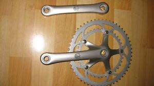 Brev. Campagnolo Crankset Double 53 39 172.5mm. made in Italy