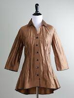 BELUVA San Francisco $182 Matte Sheen Signature Crinkle Shirt Top Size XS