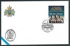 1994 SAN MARINO FDC BASILICA SAN MARCO CONGIUNTA ITALIA NO TIMBRO ARRIVO  RD13-3