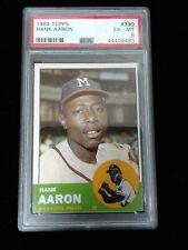 1963 Topps Hank Aaron #390 PSA 6 EX-MT