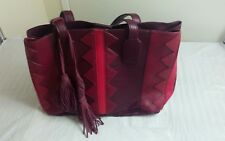 INC 3358 Womens Marginy Red Colorblock Satchel Tote Handbag
