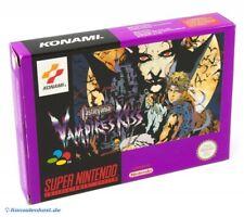 Nintendo SNES - Castlevania: Vampires Kiss mit OVP OVP beschädigt