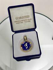 Genuine Murano 18ct Solid Yellow Gold Glass pendant