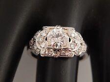European Cut Diamond Engagement Ring 1.58 tcw J/VVS ART DECO Platinum Circa 1925