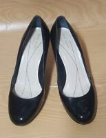 Kate Spade New York Made in Italy Black Patent Pumps Heels Platform Shoes 8.5 B