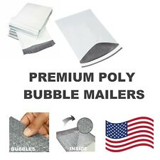 #DVD 7.25x9.75 Poly Bubble Mailers Padded Envelope Protective Packaging Pouch Ba