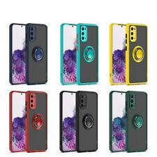 For Samsung Galaxy S20 FE 5G (Fan Edition) Ring Case Magnetic Stand Clear Cover