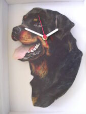 Rottweiler Dog Wall Clock. New & Boxed.