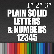 Iron-on Name Plain Solid Letters & Numbers Vinyl Fabric TShirt Transfer Sticker