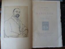 NAPOLEON par FELIX FAURE portrait par PICASSO ex 526 édit G Crès & cie 1924
