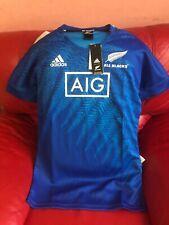 All Blacks Rugby Adidas Jersey Aig Nwt Mens Size M Blue