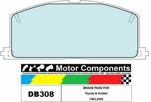 BRAKE PADS DB308 TO SUIT Toyota & Holden 1982-2002