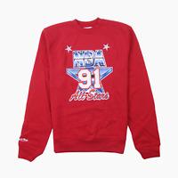 Mitchell & Ness NBA 91 All Star Basketball Fleece Mens Crew Sweater Jumper L BN