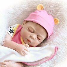 "23""reborn baby doll  full body Soft Silicone  Newborn real  Lifelike Toy Gift"