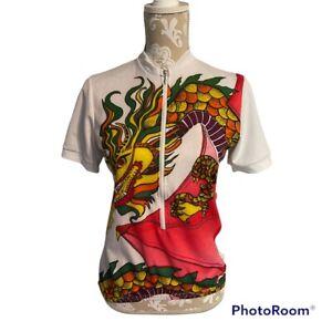 Aero Tech Designs Cycle Wear Cycling Jersey Shirt Sz S Fire Breathing Dragon