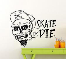 Skateboarding Wall Decal Vinyl Skater Extreme Sport Sticker Home Art Mural 69ex