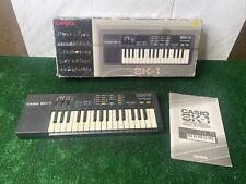 Vintage Casio SK-1 Sampling Keyboard with Box  and manual TESTED WORKING