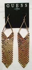 NEW GUESS Gold Dangle Long Shimmering Designer Earrings