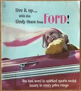 FORD RANGE Car Sales Brochure LF Feb 1962 #FDC-6218 2/62 GALAXIE 500/XL Falcon++