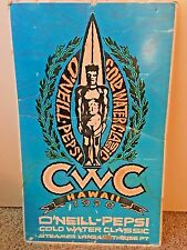 """O'NEILL-PEPSI COLD WATER CLASSIC SURFING HAWAII 1990 FOAM BOARD POSTER 26""""X16"""""""