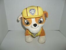 "2015 spin master paw patrol rescue real talking rubble bulldog plush 10"" tall"